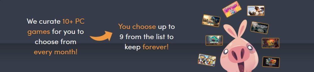 毎月自分で選んだゲームは完全に自分のものです