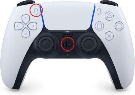 DualSense ペアリングボタン