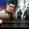 Humble Monthly 2019年2月バンドル販売開始 –  Yakuza 0、Tom Clancy's The Division