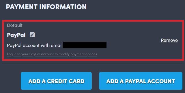 Humble Choice支払い方法の追加・削除