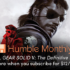 Humble Monthly 2018年12月バンドル予約開始 – Metal Gear Solid V、Cities: Skylines